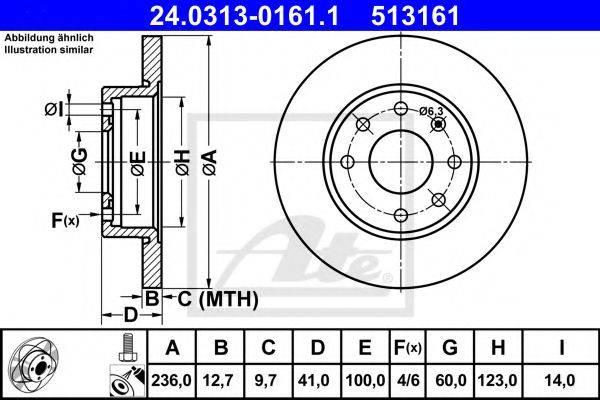 ATE 24031301611 Тормозной диск