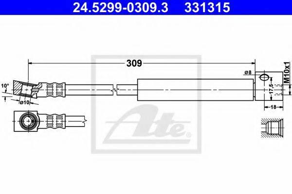 ATE 24529903093 Тормозной шланг