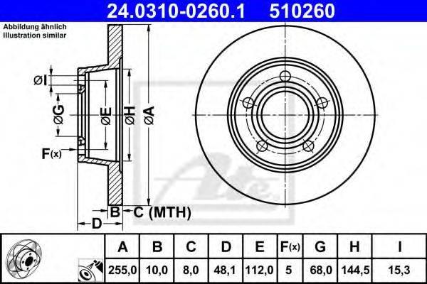 ATE 24031002601 Тормозной диск