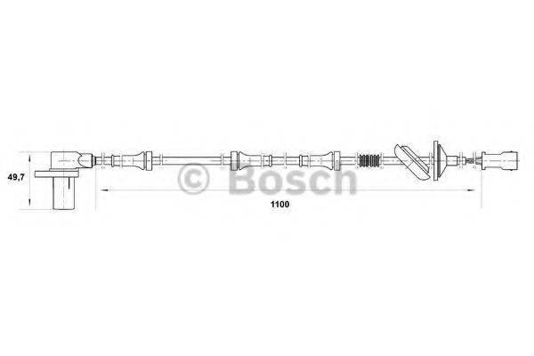 BOSCH 0265006584 Датчик, частота вращения колеса