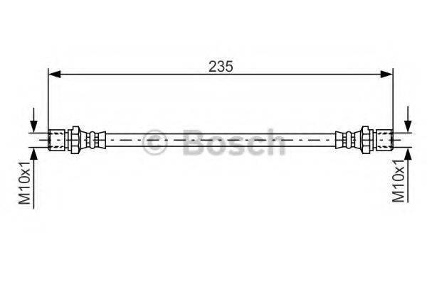 BOSCH 1987476020 Тормозной шланг