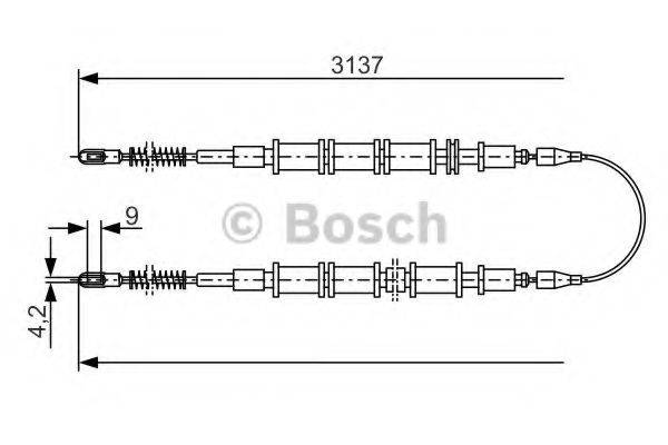 BOSCH 1987477247 Трос, стояночная тормозная система
