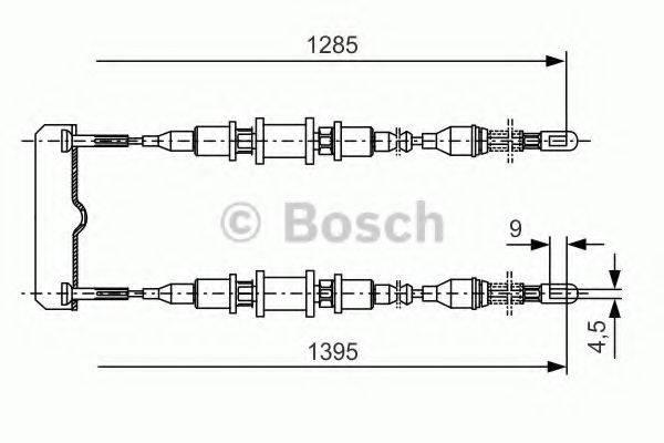 BOSCH 1987477253 Трос, стояночная тормозная система