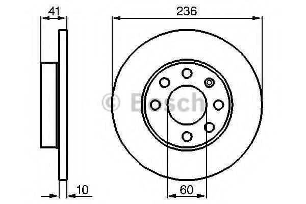 BOSCH 0986478080 Тормозной диск