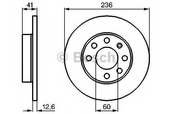 BOSCH 0986479B20 Тормозной диск