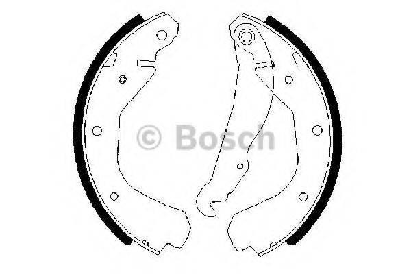 BOSCH 0986487213 Комплект тормозных колодок