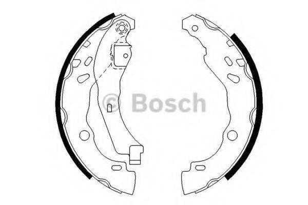 BOSCH 0986487627 Комплект тормозных колодок