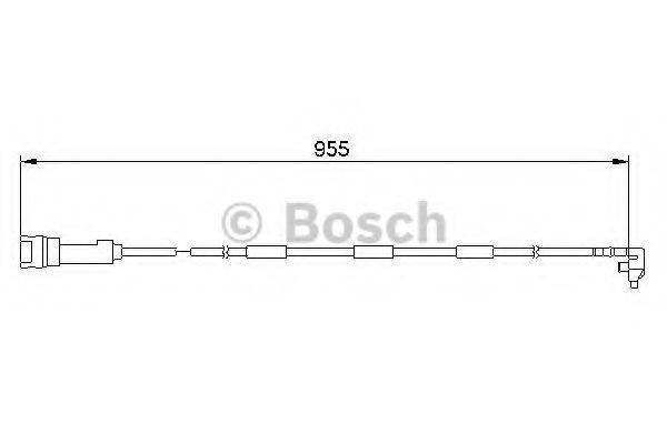 BOSCH 1987474906 Сигнализатор, износ тормозных колодок