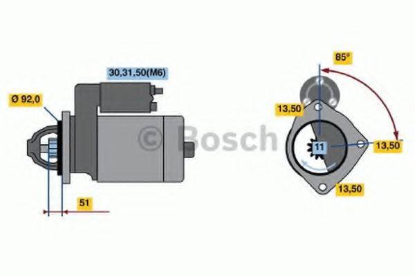 BOSCH 0001372001 Стартер