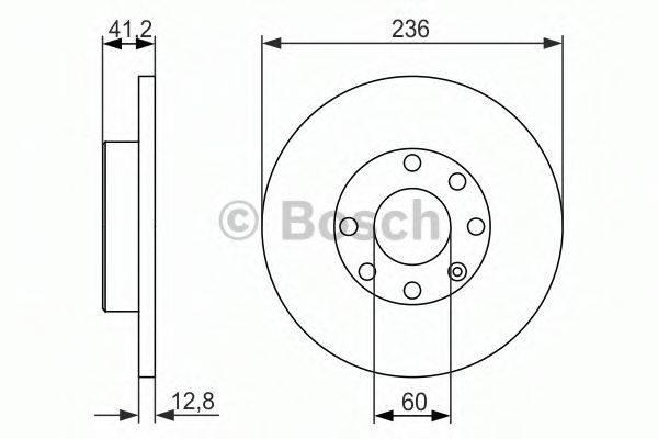BOSCH 0986479830 Тормозной диск
