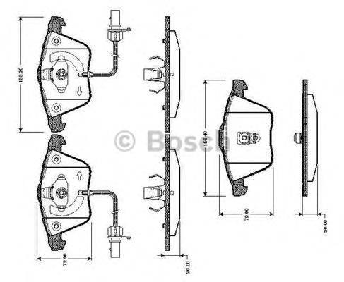 BOSCH 0986TB2436 Комплект тормозных колодок, дисковый тормоз