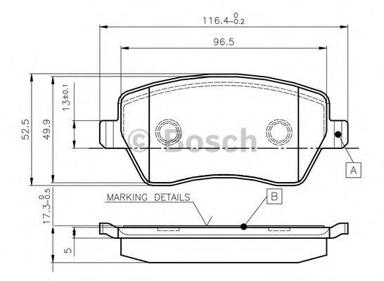 BOSCH 0986TB2448 Комплект тормозных колодок, дисковый тормоз