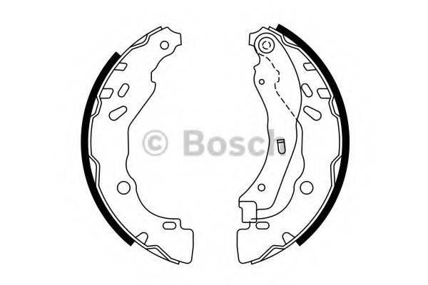 BOSCH 0986487782 Комплект тормозных колодок