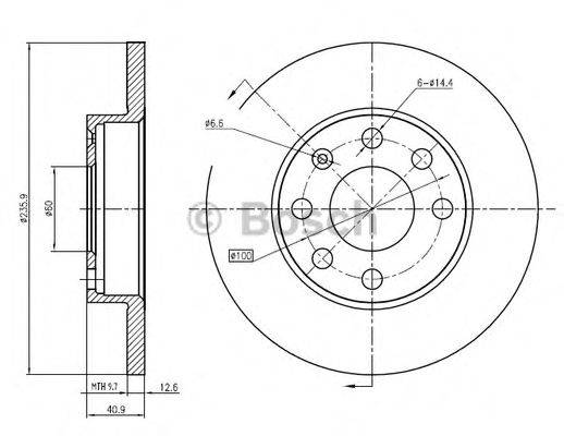BOSCH 0986BB4334 Тормозной диск