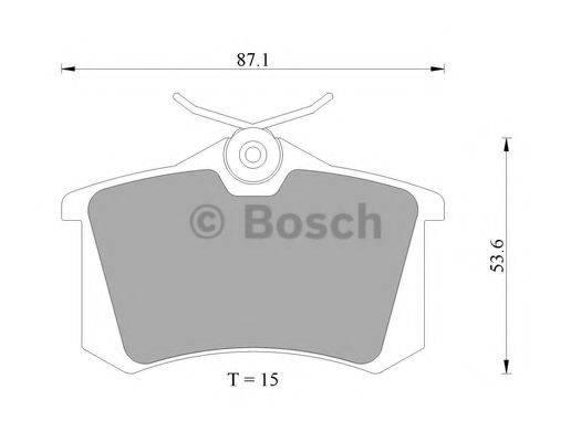BOSCH 0986AB4436 Комплект тормозных колодок, дисковый тормоз