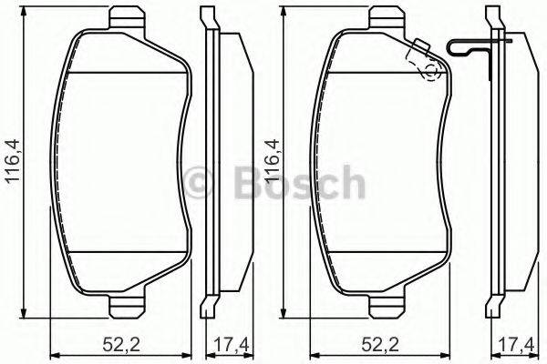 BOSCH 0986494573 Комплект тормозных колодок, дисковый тормоз