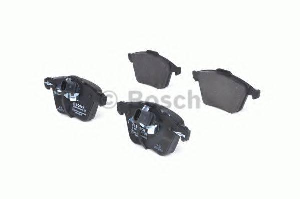 BOSCH 0986494283 Комплект тормозных колодок, дисковый тормоз