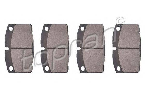 TOPRAN 202454 Комплект тормозных колодок, дисковый тормоз