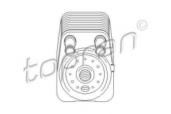 TOPRAN 112203 масляный радиатор, двигательное масло