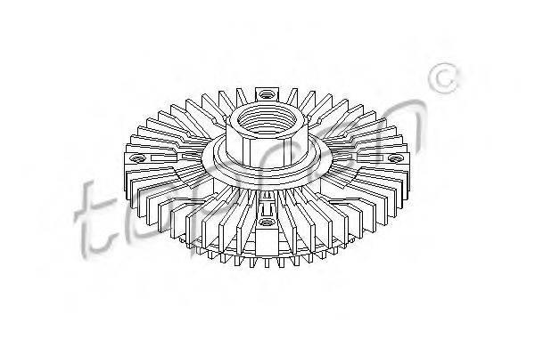 TOPRAN 109608 Сцепление, вентилятор радиатора