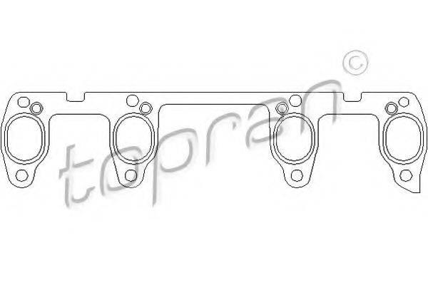 TOPRAN 100738 Прокладка, выпускной коллектор