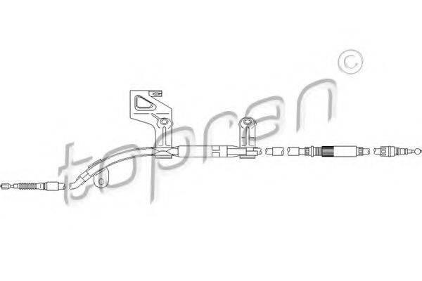 TOPRAN 112154 Трос, тормозной механизм рабочей тормозной системы