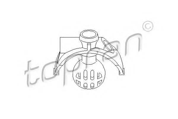TOPRAN 111323 Шаровая головка, система тяг и рычагов