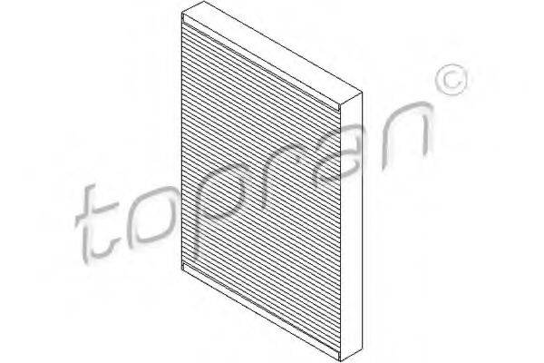 TOPRAN 109106 Фильтр, воздух во внутренном пространстве