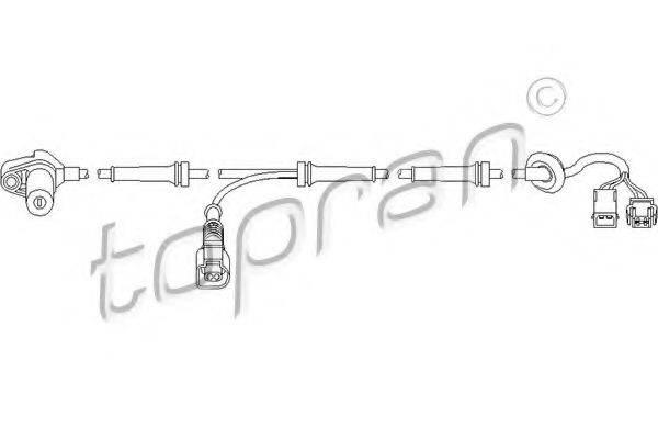 TOPRAN 110483 Датчик, частота вращения колеса