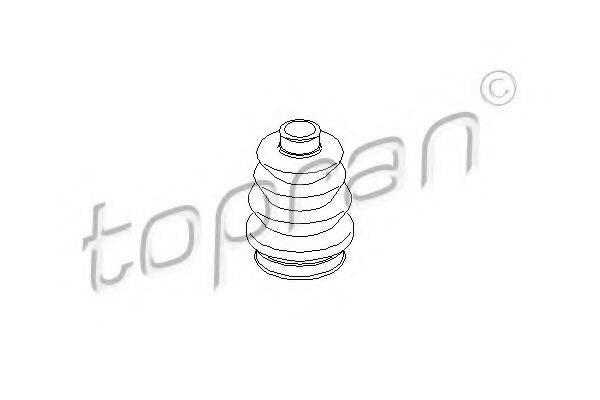 TOPRAN 200516 Пыльник, приводной вал