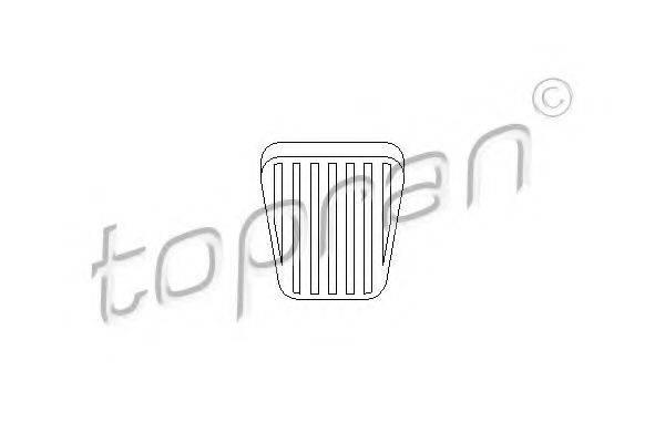 TOPRAN 200912 Накладка на педаль, педаль сцепления