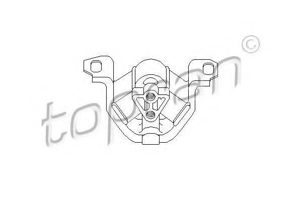 TOPRAN 201380 Подвеска, двигатель