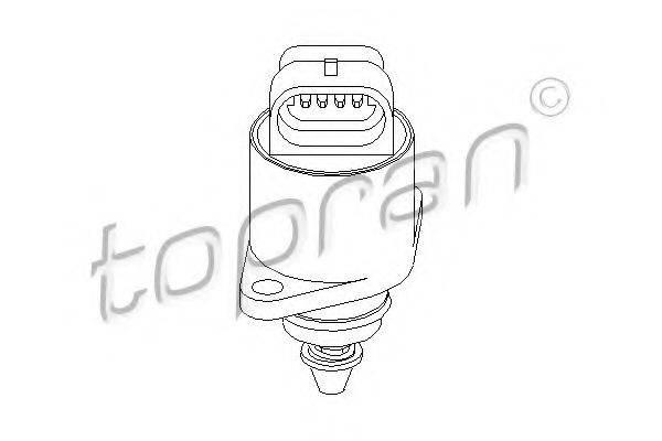 TOPRAN 206167 Поворотная заслонка, подвод воздуха