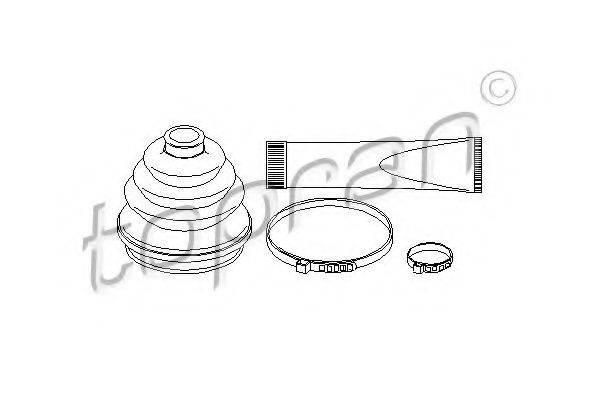 TOPRAN 202423 Комплект пылника, приводной вал