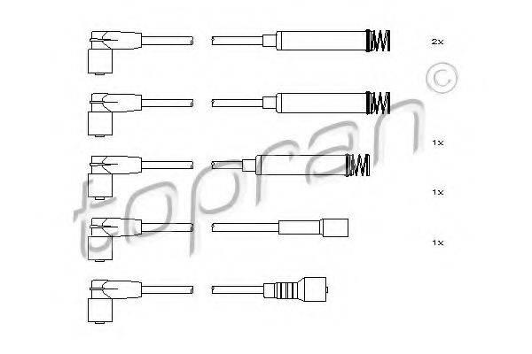 TOPRAN 202518 Комплект проводов зажигания