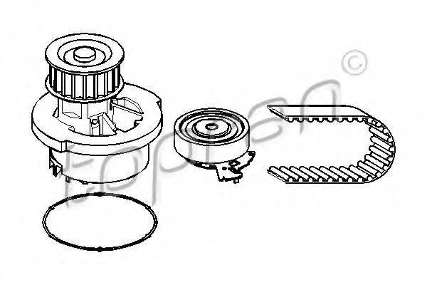 TOPRAN 207896 Водяной насос + комплект зубчатого ремня