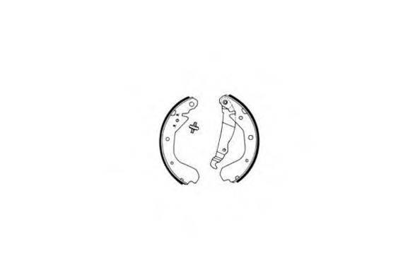 E.T.F. 090382 Комплект тормозных колодок