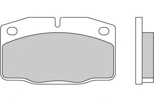 E.T.F. 120271 Комплект тормозных колодок, дисковый тормоз