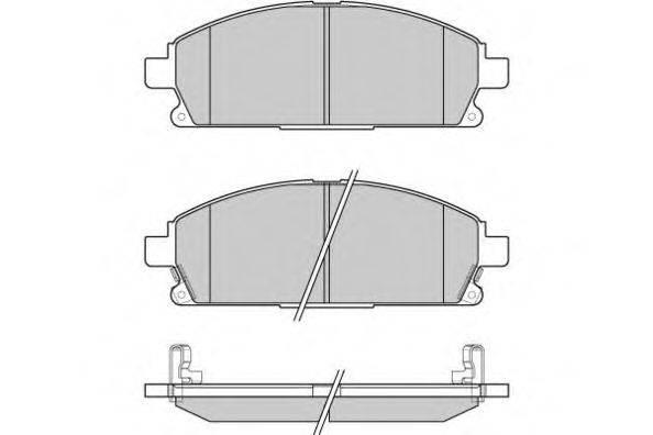 E.T.F. 120968 Комплект тормозных колодок, дисковый тормоз