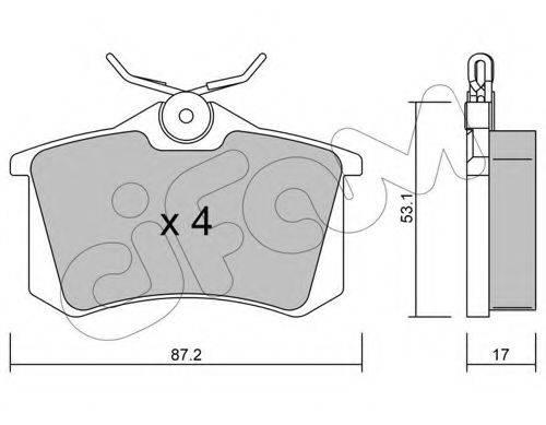 CIFAM 8221001 Комплект тормозных колодок, дисковый тормоз