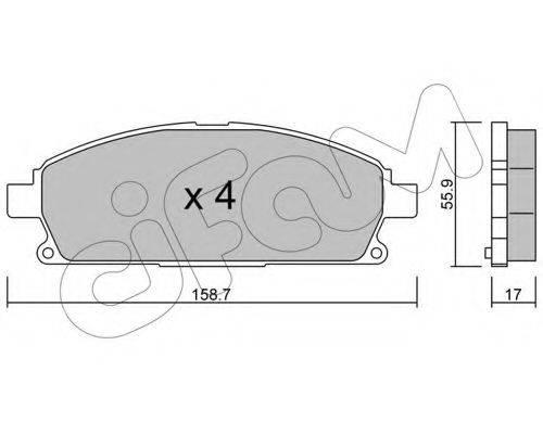 CIFAM 8224060 Комплект тормозных колодок, дисковый тормоз