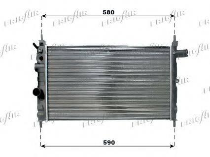 FRIGAIR 01073030 Радиатор, охлаждение двигателя