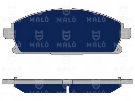MALO 1050088 Комплект тормозных колодок, дисковый тормоз