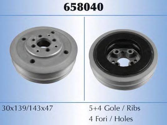MALO 658040 Ременный шкив, коленчатый вал