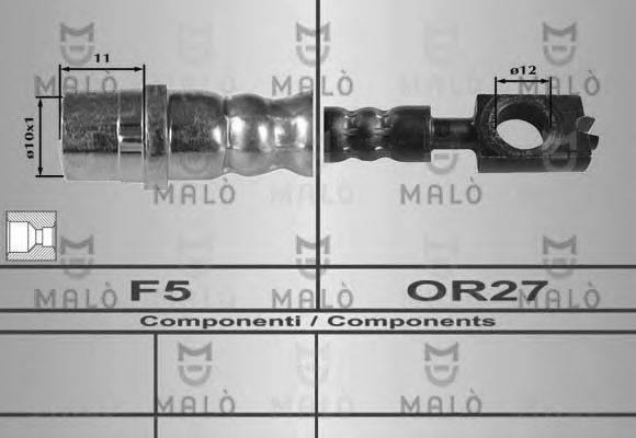 MALO 80248 Тормозной шланг