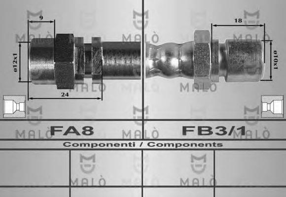 MALO 80333 Тормозной шланг