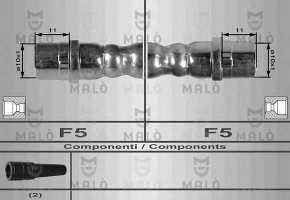 MALO 8035 Тормозной шланг