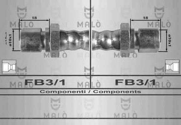 MALO 8541 Тормозной шланг