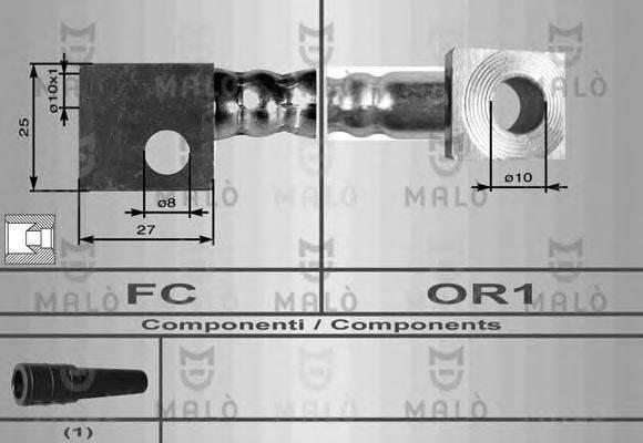 MALO 8544 Тормозной шланг
