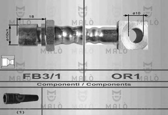 MALO 8545 Тормозной шланг